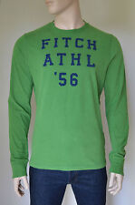 NUOVO Abercrombie & Fitch Cobble Hill MANICA LUNGA VERDE TEE T-SHIRT XL RRP £ 50