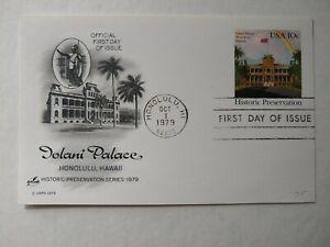 US Iolani Palace 1979 FDI POSTAL CARD , Honolulu Hawaii