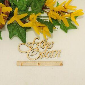 Frohe Ostern 10cm eleganter Schriftzug aus Holz für Dekoration Holzschrift Karte