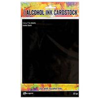 Ranger Ink Tim Holtz Alcohol Ink Cardstock Matte Black tac65487
