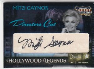 MITZI GAYNOR 2008 Americana Blue Foil Director's Cut Hollywood Legends #'d 28/49