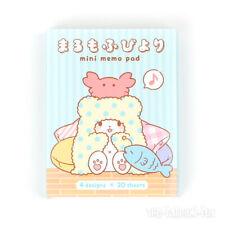 New Sanrio Marumofubiyori Mini Memo Pad Note Paper Letter Stationery Booklet Set