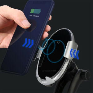 QC 3.0 Wireless Car Charger Bracket Folding Telescopic Stand Suction Cup Holder