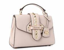 ❤️ Michael Kors Bleecker Small Studded Crossgrain Leather Satchel Soft Pink ❤️