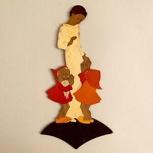 🚬 Märchen-Holzbild ALT 1930er 28cm Hellerkunst Schneewittchen Handgemalt Figur