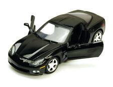 Chevy Corvette C6, Black - Motormax 7370 - 1/24 scale Diecast Model Toy Car