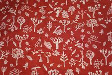 3  7/8 y  Nature Crepe Fabric Dizty Print Apparel Fabric  Free Ship   BFab
