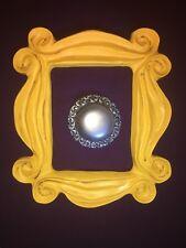 FRIENDS tv YELLOW PICTURE FRAME w/ ANTIQUE DOORBELL Monica's purple door prop