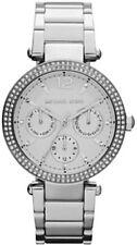 New Authentic Michael Kors Parker Silver Tone Women's Glitz Watch MK5779 W/Box