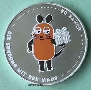Deutschland BRD 20 Euro 2021 Sendung mit der Maus Silber Euromünze coin farbig