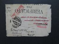 Italy 1916 Censored Cover to Greece / BACK ONLY - Z9277