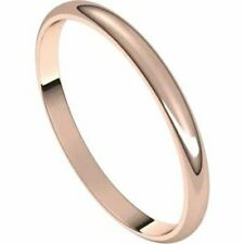 SIZE 5 - 2mm 14kt Rose Gold Wedding Band New Half Round Standard Fit Ring