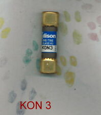 EDISON KON 3 FUSE 3 AMP 250 VOLT FUSE (PKG. OF 2)