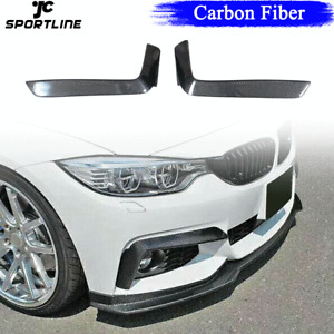 Carbon Front Bumper Splitters Canards For BMW 4 Series F32 F33 F36 M-Sport 14-19