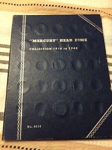 Lot Of 53 Silver Mercury Dimes In Album Inc. 17D 35D 28S 34D