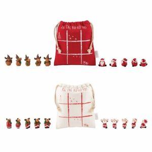 Mud Pie H0 Holiday Kids Shoppe Tic Tac Toe Christmas 11pc Set 12600143 Choose