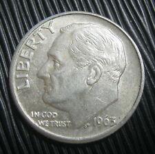 ETATS-UNIS , USA - ONE DIME 1963 D - ROOSEVELT - Argent