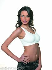 Pack 2 Bravo White Comfort Bra – Ideal for Post Surgery and Mastectomy 8 - 10
