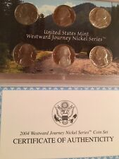 2004 Westward Journey Nickel Series Coin Set US Mint 6 Coins With COA