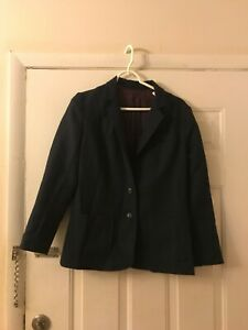 Womens Classic Navy Blazer Sag Harbor Size 2 Button Career