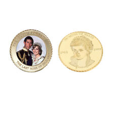 Princess Diana 20th Anniversary 24k Gold Coin Collectible Color Challenge Coin