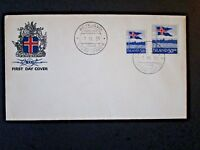 Iceland 1958 Flag Series FDC / Unaddressed / Cacheted - Z4813