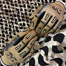 New Hk Army Full Finger Hardline Paintball Gloves - Tan Hstl Camo - Large