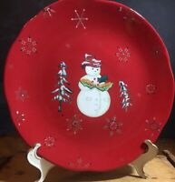 Tracy Porter China Jolly Ol' Snowy Pattern Christmas Dinner Plate