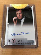X -Files Archives Classics Autographs William B. Davis Autograph Card Ltd /150