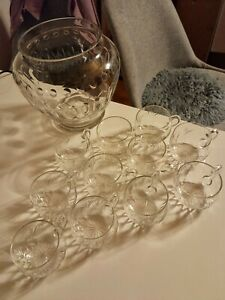 Bowle Set Kristall