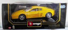RARE BURAGO DIE-CAST CAR 1/18 - FERRARI testarossa 1984 YELLOW (D9)