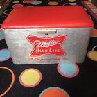 Rare Vintage Cronstroms Miller High Life Aluminum Picnic Cooler Good Condition!