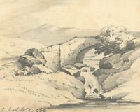Charles Frederick Buckley (1812-1869) - Graphite Drawing, Landscape, North Wales