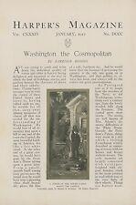 1917 Magazine Article Cosmopolitan Life in Washington DC Capital White House