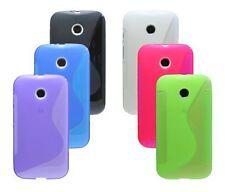 In SILICONE GUSCIO COVER Custodia Cellulare Bumper Custodia per Motorola Moto E (1. generazione)