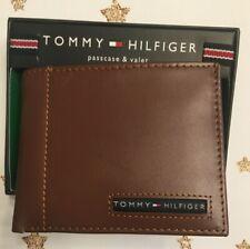 Tommy Hilfiger Men's Passcase Billfold Genuine Leather Bi-Fold Wallet Tan NEW