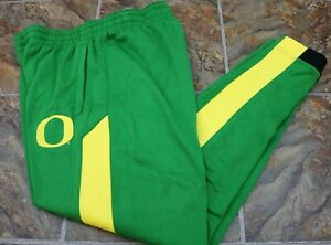 RARE Oregon Ducks Nike Men's Green Yellow Therma Fit Sweatpants Pants SZ  L-2XL