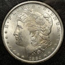 1884-CC Morgan Dollar, Bright Fresh Choice Uncirculated Coin, GSA Holder 1122-05