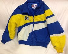 Vintage St. Louis Rams 90s logo 7 puffer Jacket Coat sz Medium *see Description