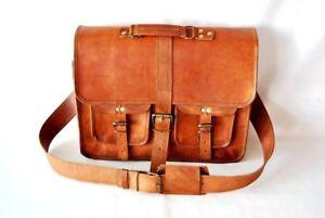 Sling Mens Handmade Leather Vintage Laptop Shoulder Briefcase Messenger Bag