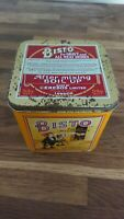 Vintage collectable Bisto Tin canister used condition