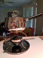 Silver Tone And Gold Tone Cheese/Meat/Chocolate Fondue Set (5 Pieces) (Nwot)