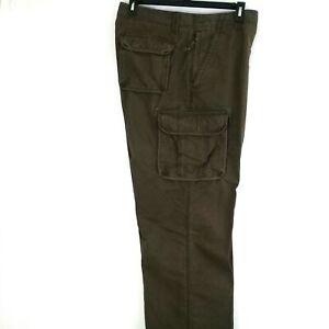 L.L.Bean Men's Allagash Cotton Canvas Cargo Pants Natural Fit Size 40 x 30