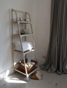 Ladder Bookshelf, Antique White colour finish