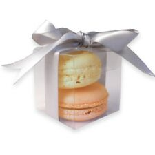 Clear Macaroon / Macaron boxes for Two Macaroons - Premium Quality: Pack of 10