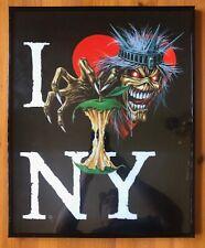 Iron Maiden Framed Art Print I Love Heart NY NYC Eddie Heavy Metal Music