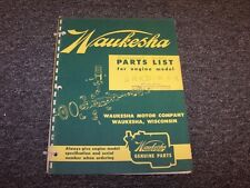Waukesha 6NKD-B-3-R Gasoline Engine Factory Original Parts Catalog Manual