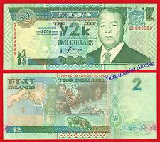 ISLAS FIJI FIDJI 2 Dolares Commemorative RADAR CAPICUA Pick 102  SC /  UNC