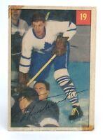 1954-55 Eric Nesterenko #19 Toronto Maple Leafs Parkhurst Hockey Card G938