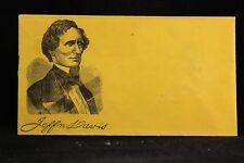 Confederate: Unused Patriotic Cover, Jefferson Davis Portrait
